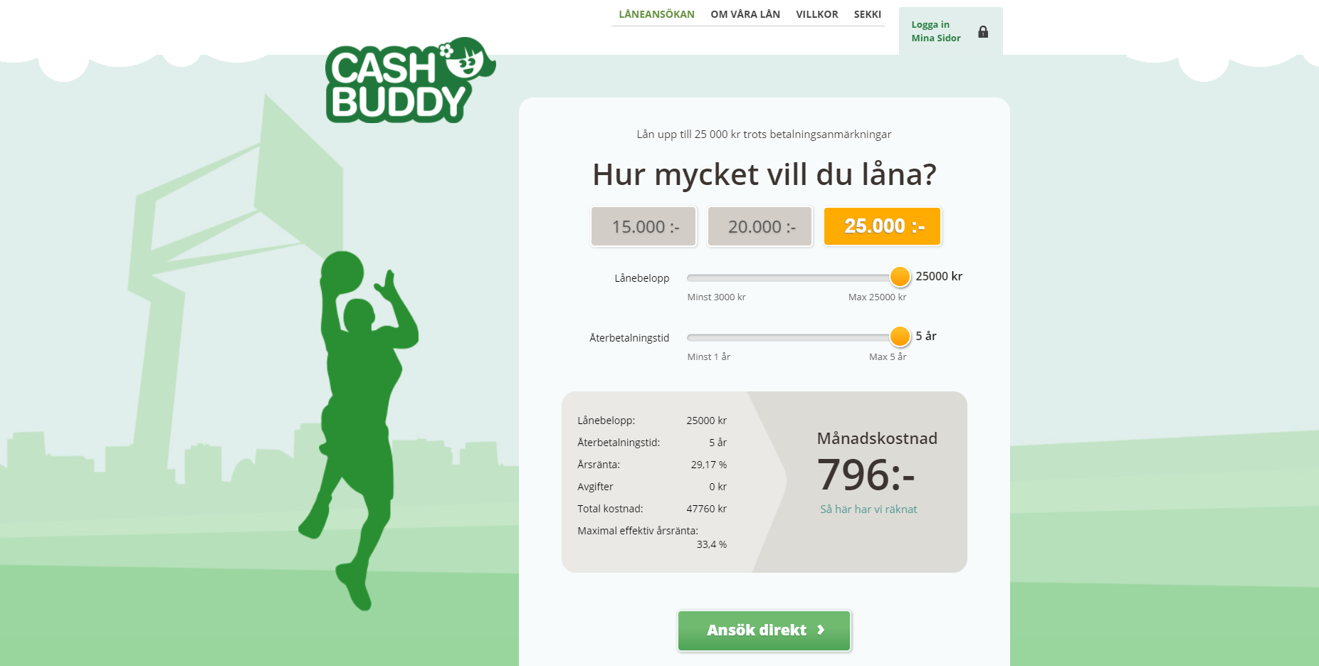 Cashbuddy skärmdump
