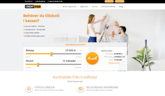 Creditstar skärmdump